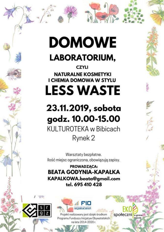 Domowe laboratorium, czyli naturalne kosmetyki ichemia domowa wstylu less waste