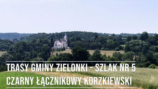 Trasa 5 – Szlak czarny (łącznikowy) Korzkiewski, dystans 3,4 km
